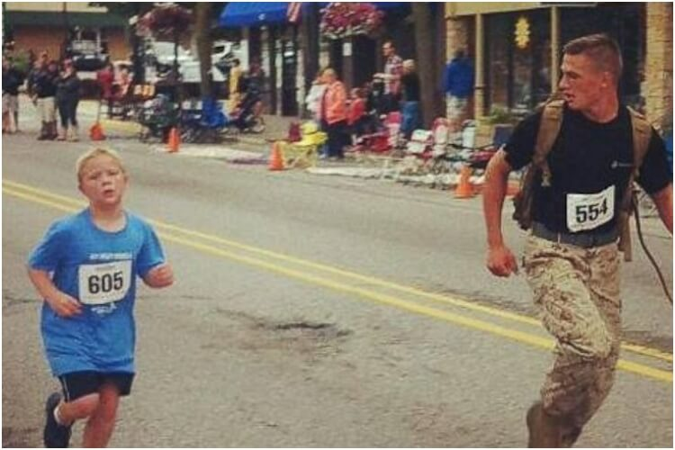 Hero Marine Helps Lost Boy in Marathon Race
