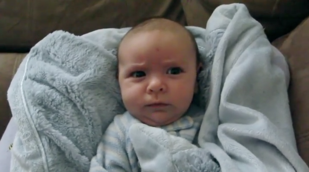 This baby wakes up with so many emotions