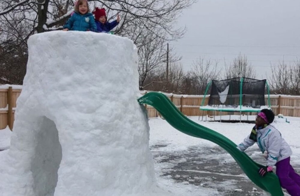 Dad Builds Amazing Igloo For His Nine Disabled Kids