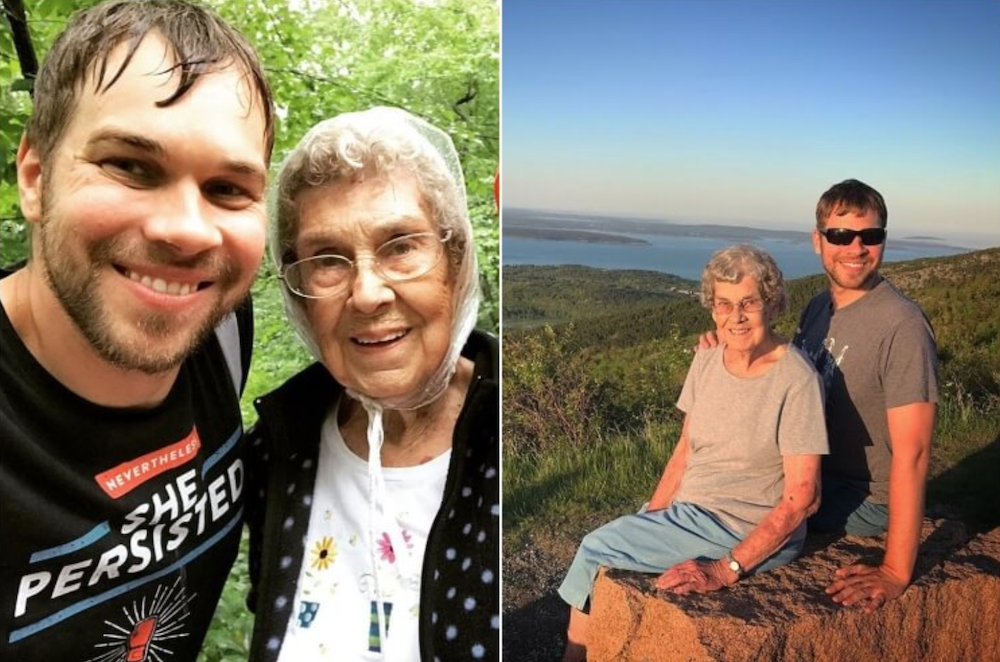 Grandson visiting all national parks with his grandmother, 89