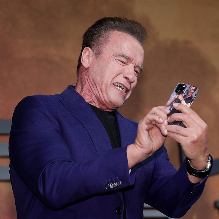 Arnold Schwarzenegger Shows Off His New iPhone Case